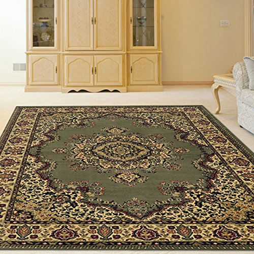 4'11' Radici Rugs (Radici 1191 CASTELLO Rugs, 3-Feet 3 by 4-Feet 11-Feet, Green)