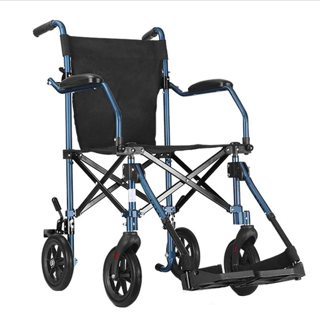 Medical Wheelchairs Old Man Folding Walker Multi-Function Trolley Disabled Scooter Portable Travel Shopping Cart Mobility Aid for Elderly & Handicap PNYGJZXQ by PNYGJZXQ
