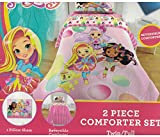 Nick Jr. 'Sunny Day' Bubbles 6pc Full Comforter and Sheet Set Bedding Collection, Pink