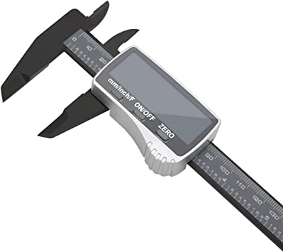 """Stainless Steel Vernier Caliper Electronic Micrometer Depth Gauge Measuring Tool with LCD Screen and 0-150mm//0-6/"""" Inch//Metric//Fraction Conversion IsEasy Digital Caliper"""