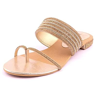 f2c0f7dd7 Women's Partywear Leather Fashion Ballet Flat Sandal Cream Color (Size 9):  Buy Online at Low Prices in India - Amazon.in