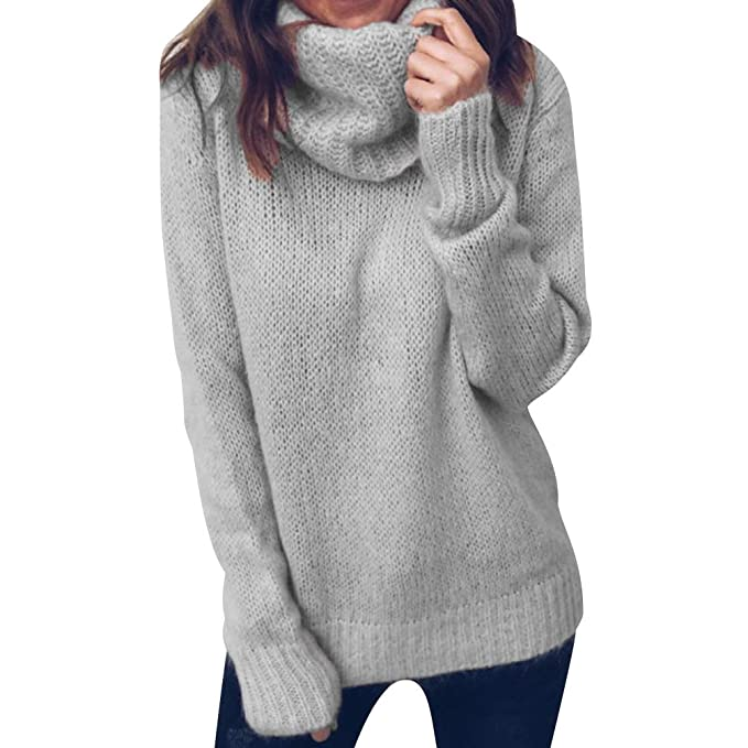 36e48a38efa9 Jerseys de Punto Mujer Jersey Punto Cuello Vuelto Mujer Oversize Grueso  Sueter Señora Gordos Ancho Sweaters Sweater Tejido Jerséis Suéter de Mujer  Tejido ...