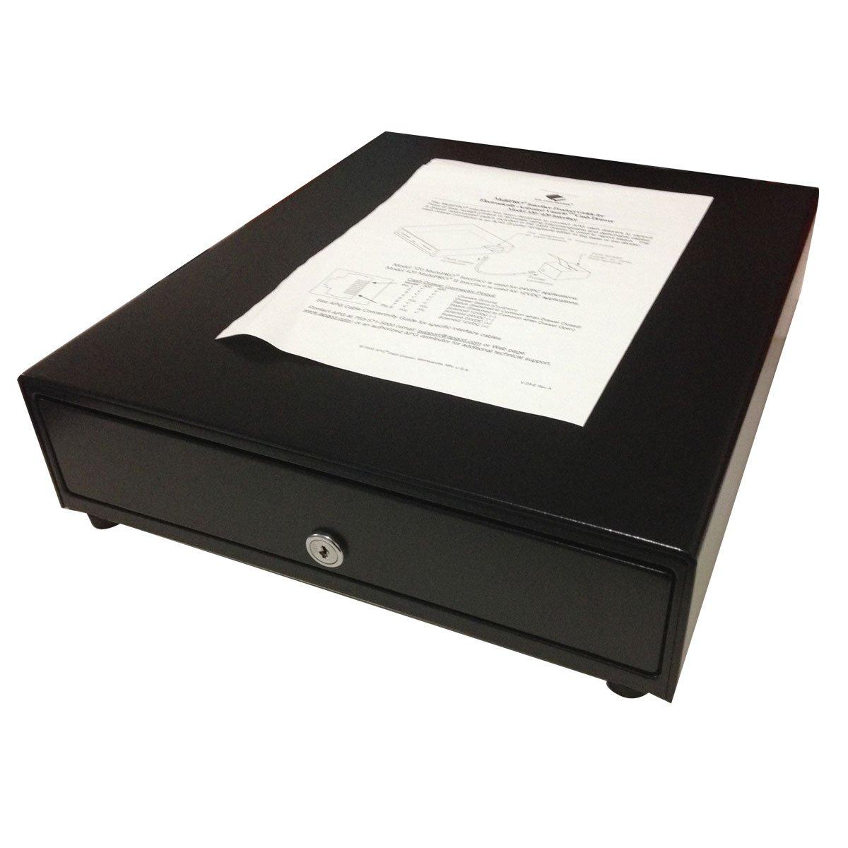 APG Cash Drawer VP320-BL1416-B4 Acero inoxidable Negro bandeja para cajón portamonedas - Bandejas para cajones portamonedas (351 mm, 415 mm, 102 mm, 1000000 operaciones, 7,3 kg) B005F1AV4Y