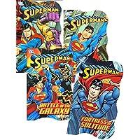 DC Comics Superman Board Book Set for Toddler Boys Kids ~ Set of 4 Superman Books (Superman Board Books)