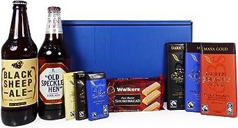 La caja de hombres con la cerveza y golosinas - idea de regalo ...