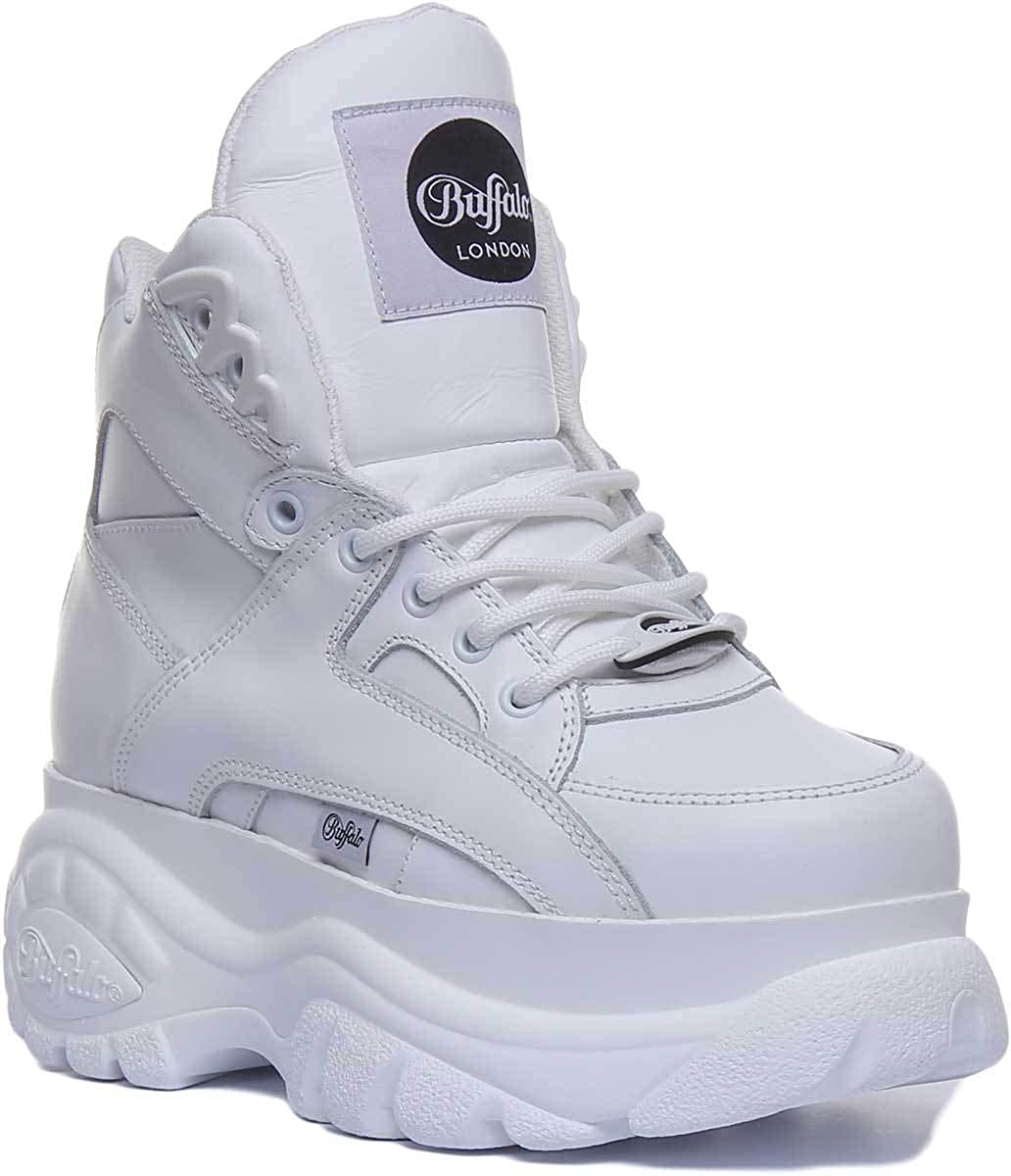 white buffalo platform shoes