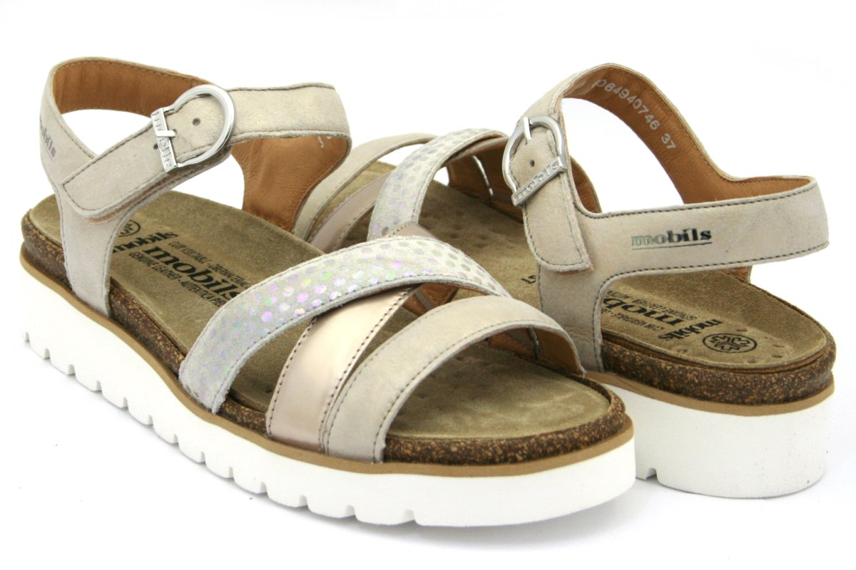 Sandale/Nu-pied MEPHISTO semelle amovible cuir amovible cuir 10885 beige Beige 2609a7c - boatplans.space