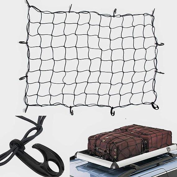 Stretch AUTOECHO Ladungsnetze mit Motorrad-Gep/äcknetz zum Herunterhalten Oben Koffer Fahrrad Netzgewebe Netz mit 12 Haken f/ür Motorrad