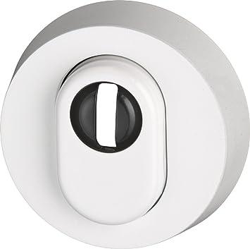 Abus RHZS415 W SB 05703 - Embellecedor de cerradura con perfil para bombín para puertas de madera, color blanco: Amazon.es: Bricolaje y herramientas