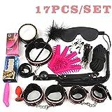 17Pcs /Set BDSM Bondage Set Leather Fetish Women Sex Bondage Toys Nipple Clamps Ball Gag Handcuffs Adult Sex Products 7Pcs