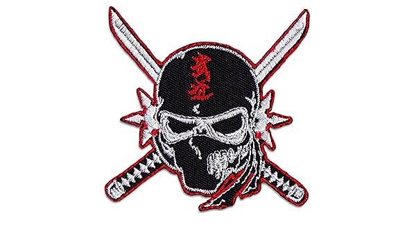 Ninja & Crossed katanas parche para planchar Patch Japón ...