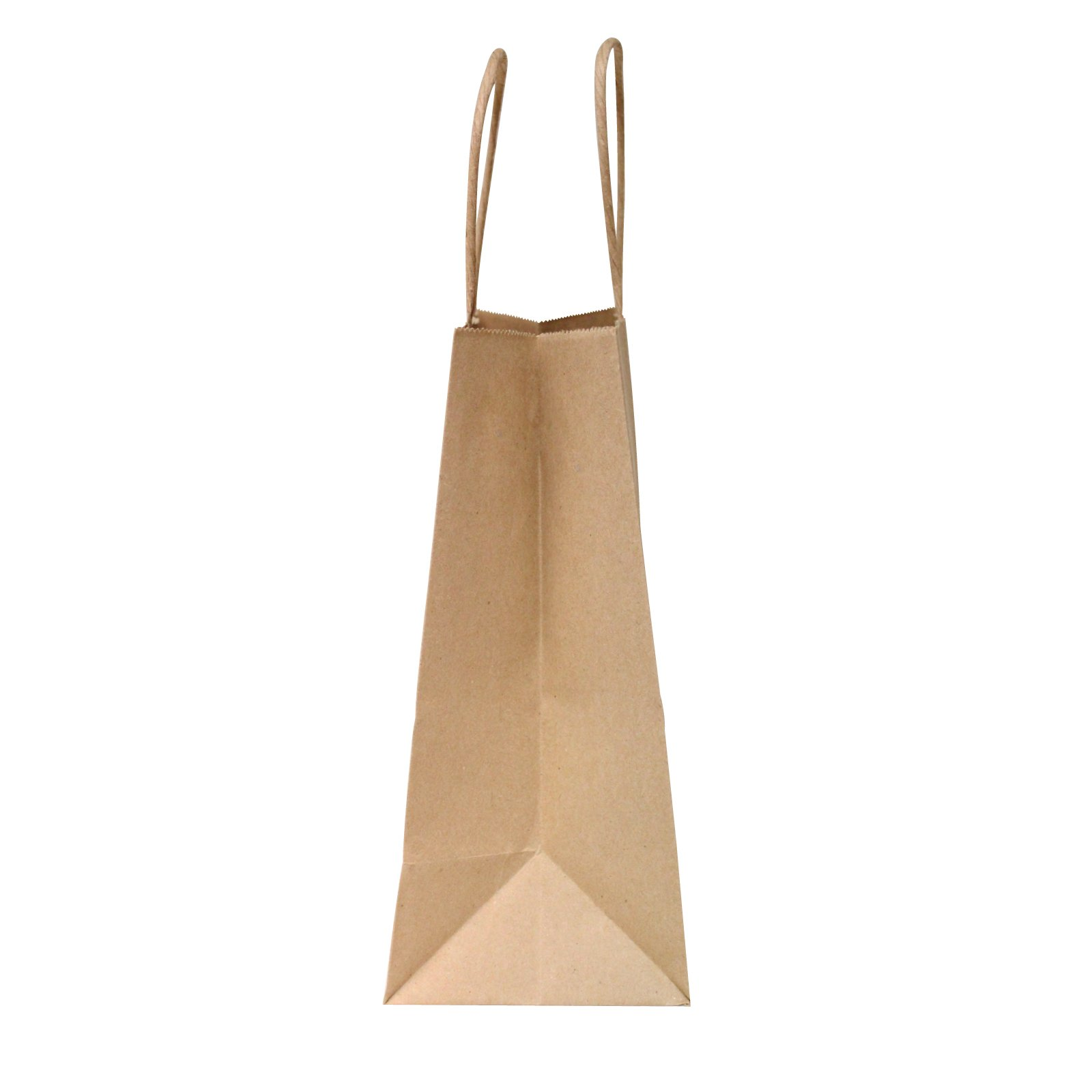 Flexicore Packaging 8''x4.75''x10''-100 Pcs-Brown Kraft Paper Shopping, Mechandise, Party, Gift Bags by Duro (Image #2)