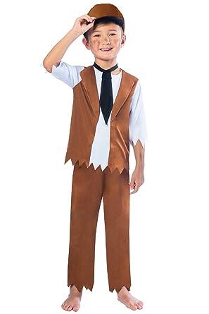 1da1ee5bee Victorian Boys Fancy Dress Poor Chimney Sweep Book Day Kids Childrens  Costume