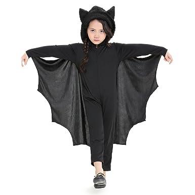Per Bat Jumpsuit Für Kinder Halloween Kostüm Mit Kapuze Handschuhe