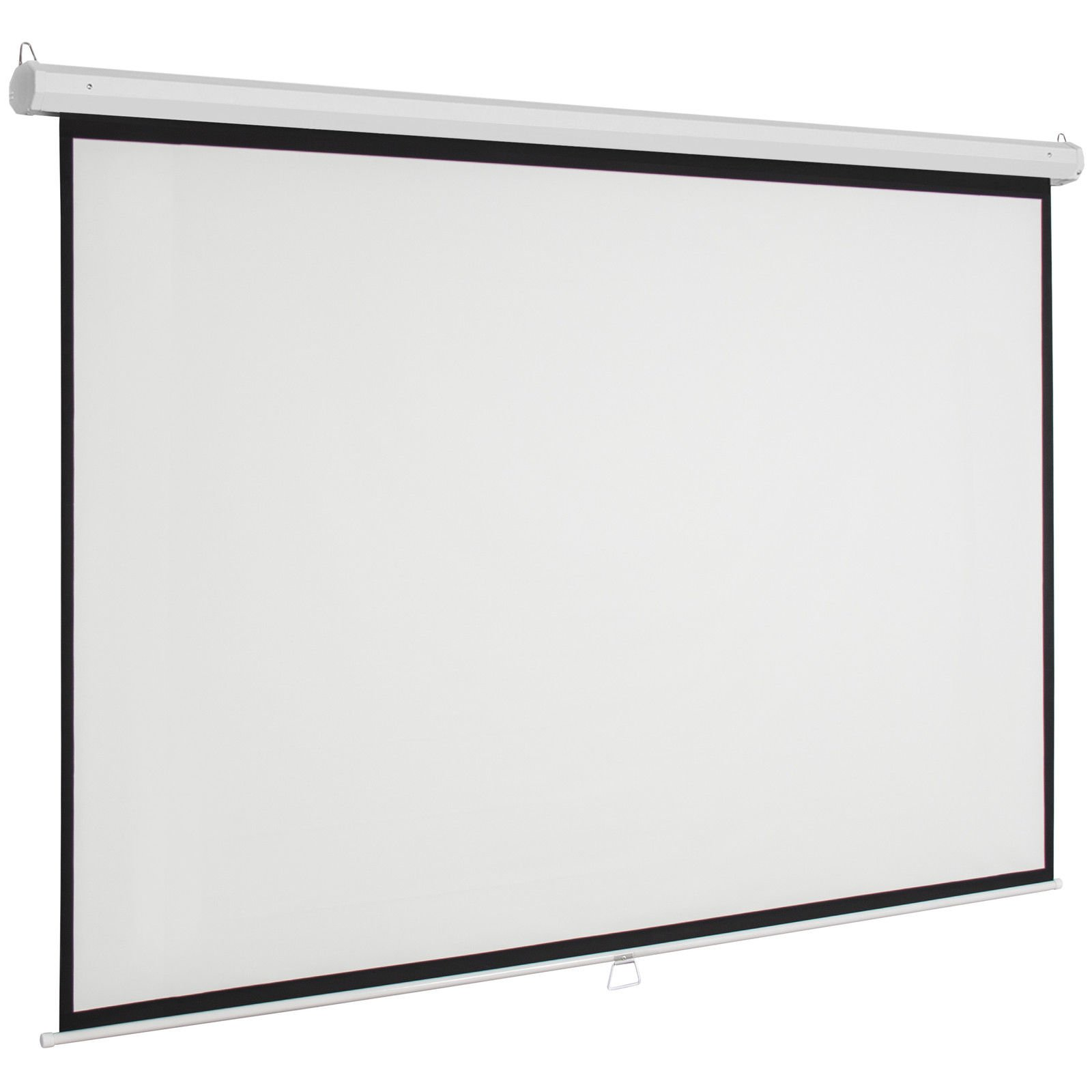 Marketworldcup - 119'' Manual Projector Screen 84''X84'' Pull Down Projection Home Movie Theater Premium Quality!! Blowout Prices!