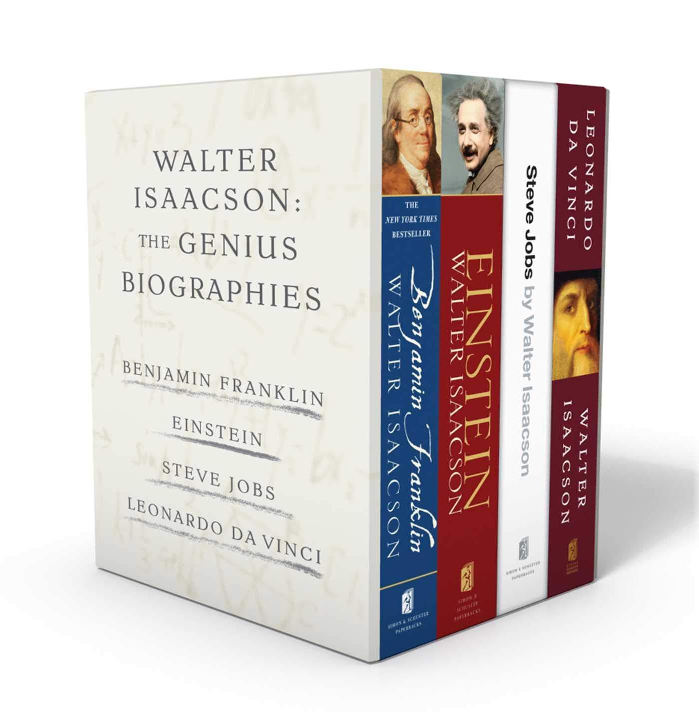Walter Isaacson: The Genius Biographies: Benjamin Franklin, Einstein, Steve Jobs, and Leonardo da Vinci by Simon & Schuster