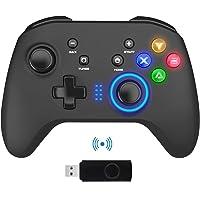 Mandos Inalámbricos para PC, Gamepad con Doble Vibración Controlador de Juegos de Computadora para PC con Windows 7/8/10…