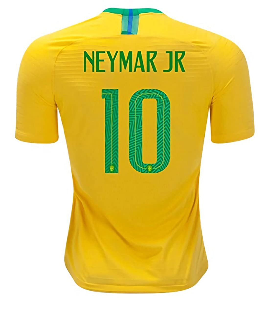 f24c5884d Amazon.com  CampJuly 2018 World Cup Soccer Team Brazil Neymar 10 Home Men s  Jersey Color Yellow Size XL  Clothing
