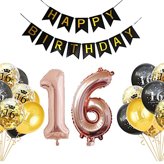 Crazy-M 16 Juego de decoración de cumpleaños Deco de ...