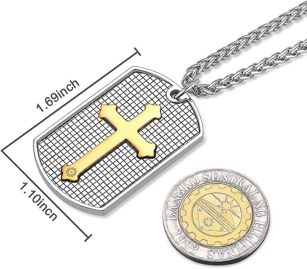 Quensk John 3:16 Cross Necklace Christ Necklace Pendant Cross Prayer Fashion Accessories for Men Women