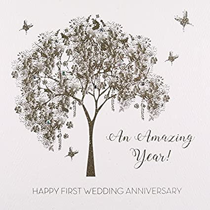 Amazon.com: Happy First Wedding Anniversary - An amazing year, #GS38 ...