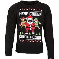 Top Fashion18 Kids Christmas Printed Santa Floss Sweatshirt