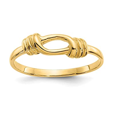 Amazon Com Ice Carats 14kt Yellow Gold Love Knot Wedding Ring Band