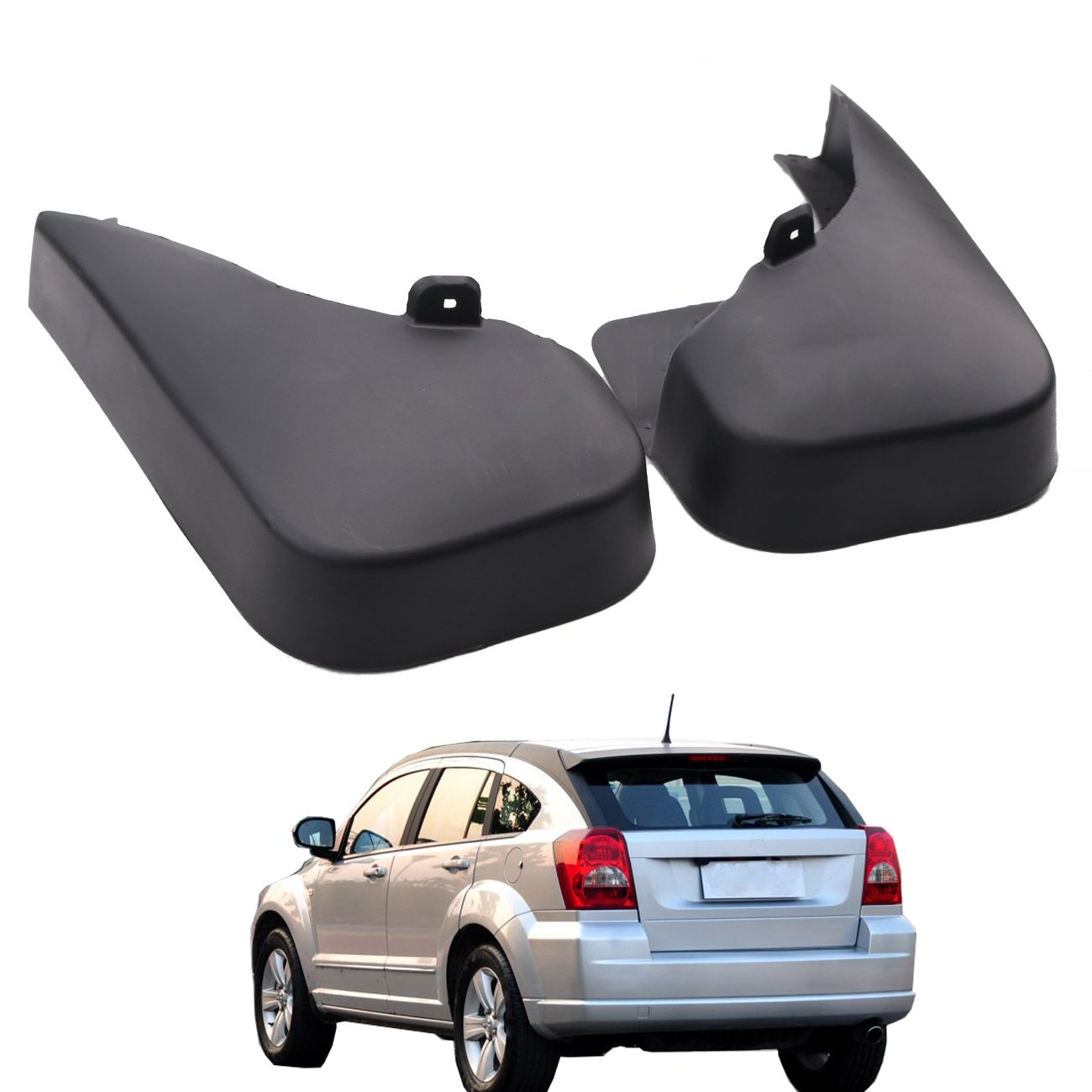 Splash Guards Aletas de barro con logotipo de Dodge para Dodge Caliber 2007-2012: Amazon.es: Coche y moto