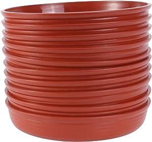 Happyyami 10Pcs Thicken Plastic Flower Pot Sauser Planter Pot Water Tray Round Flower Pot Roller Tray for Home Garden Office