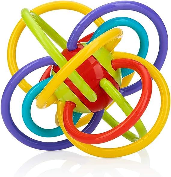 Nuby Lots A Loops Anillo de dentición y sonajero integrado: Amazon.es: Bebé