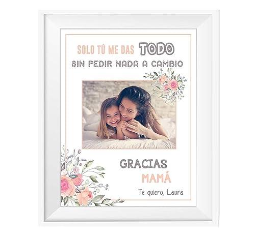 Regalo Original Mamá/Lámina Personalizada con Foto/Incluye ...