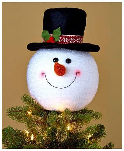 Snowman Christmas Tree Topper Decoration Holiday Tree Ornament Festive Decor - Amazon.com: Snowman Christmas Tree Topper Decoration Holiday Tree