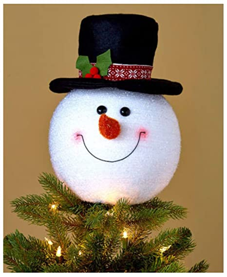 newest bdbea b563d Snowman Christmas Tree Topper Decoration Holiday Tree Ornament Festive Decor