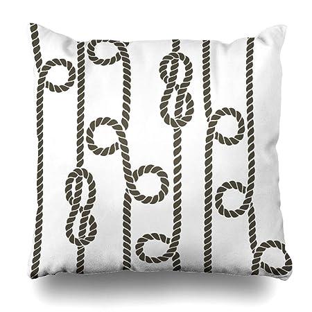 Ahawoso - Funda de almohada cuadrada, 61 x 61 cm, diseño de carpa ...