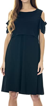 Smallshow Maternity Nursing Dress Cold Shoulder Breastfeeding Dresses For Women At Amazon Women S Clothing Store