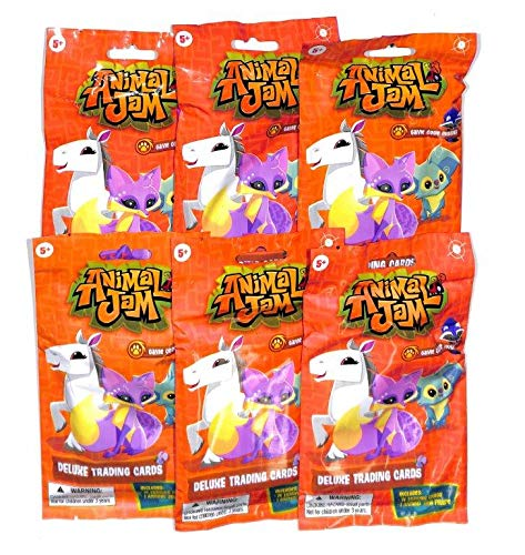 2017 Animal JAM Deluxe Trading Cards Pack 14 Cards/1 Figure in Each LOT of 24