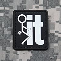 Fuck It PVC Morale Patch - Rubber Morale Patch, Hook Backed by NEO Tactical Gear