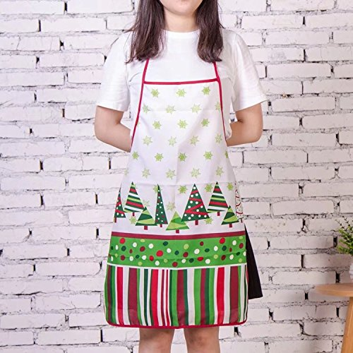 Doyeemei Christmas Apron Adult Apron Family Dinner Cooking Baking Chef Christmas Decoration Gift