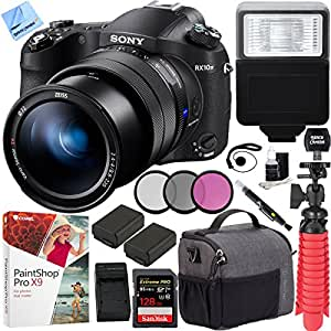 Sony RX10 IV Cyber-Shot High Zoom 20.1MP Camera with 24-600mm F.2.4-F4 Lens and Tamrac Tradewind Shoulder Bag Plus 128GB Dual Battery Bundle