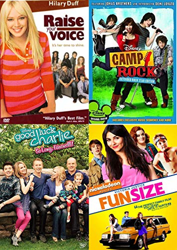 Club Girls Rock Disney Camp Star Edition Jonas Brothers Demi Lovato + Hillary Duff Raise your Voice / Good Luck Charlie So Long Farewell / Fun Size 4 Pack ()