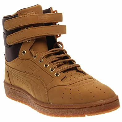PUMA SKY II HI NBK MENS CASUAL BOOTS (13, Amber Gold/Black Coffee