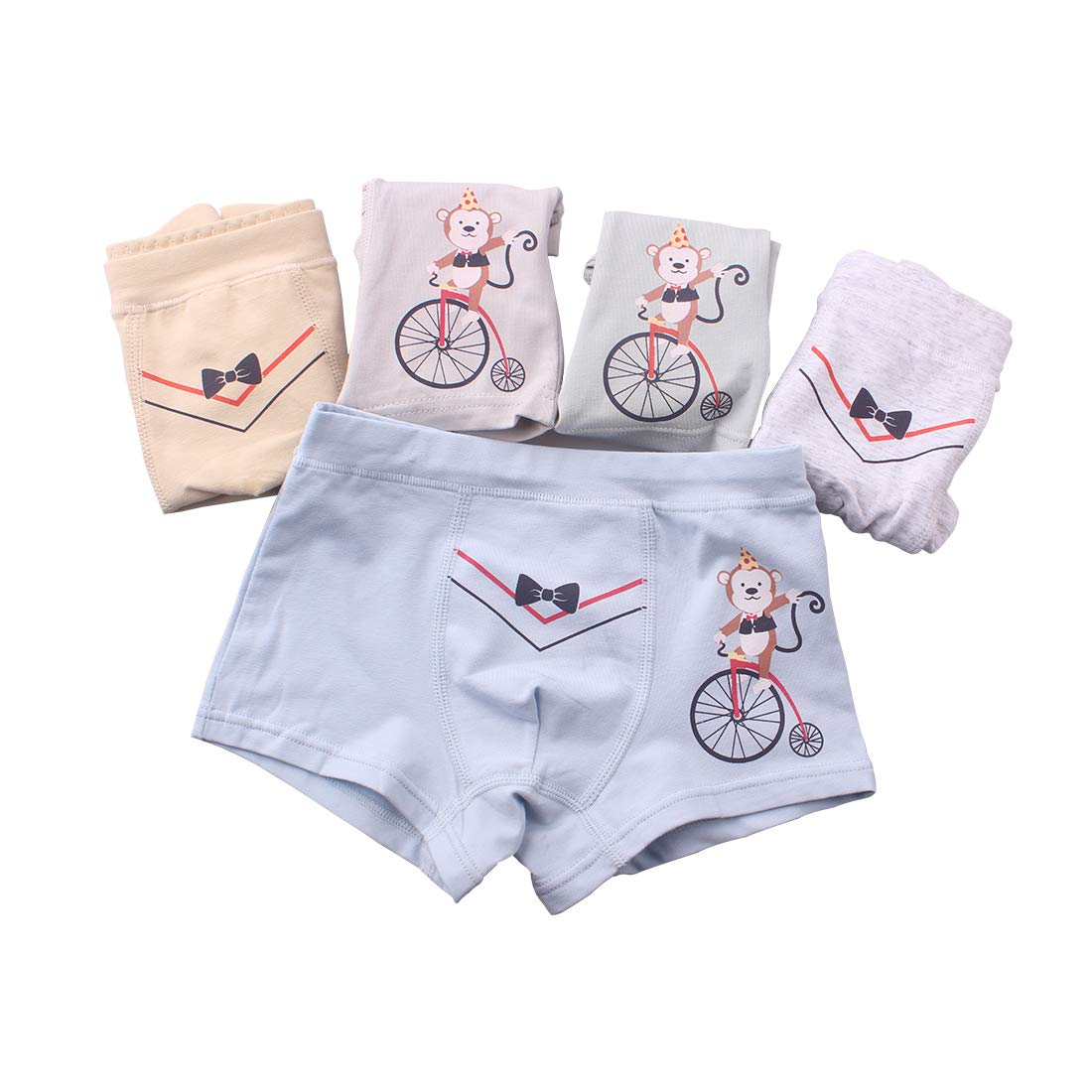 KimmyKu 新品 Toddler Kids Little Boys Organic Cotton Underwear Panties Shorts Shorty with Lovely Monkey 8 9 10 Years by KimmyKu