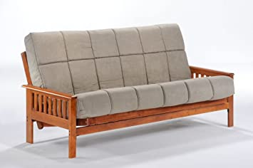 night  u0026 day furniture trinity futon frame full java finish amazon    night  u0026 day furniture trinity futon frame full java      rh   amazon