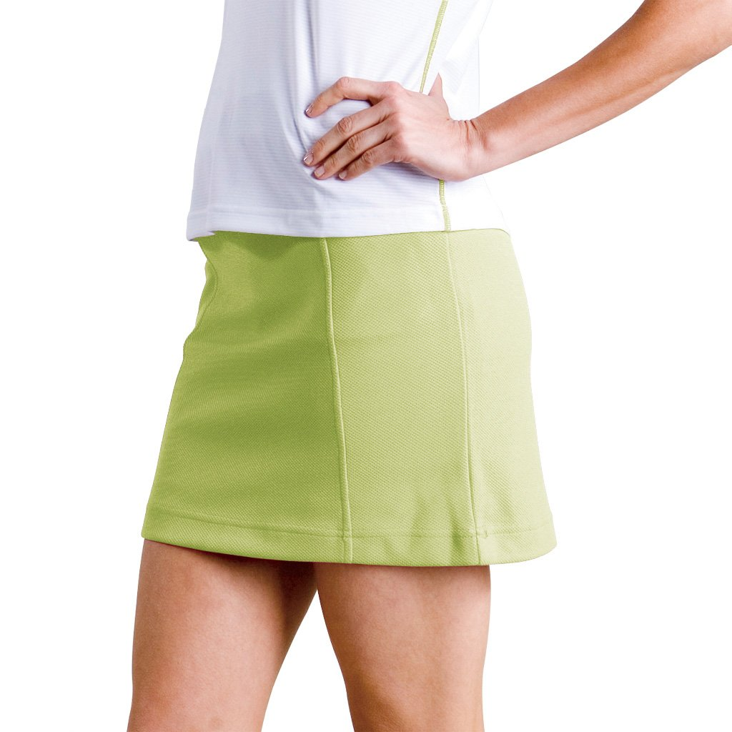 Monterey Club Ladies YarmouthテクスチャプルオンニットSkort # 2843 Large Lime Meringue B00C3332IY