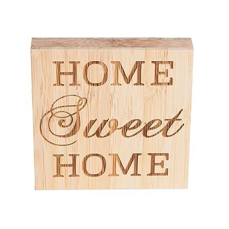 EQLEF Home Sweet Home Madera casera Dulce casera Decoración ...