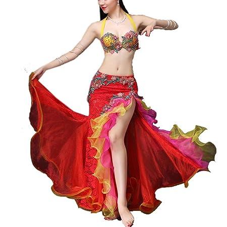 Falda de baile de las mujeres Disfraz de danza del vientre ...