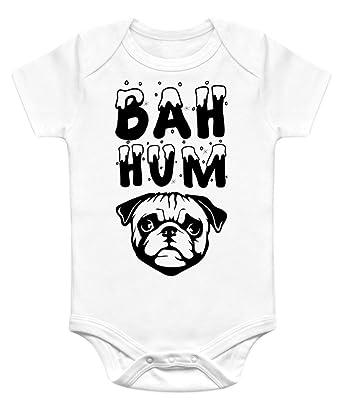 nerdy onesies unisex baby bah hum pug christmas onesie
