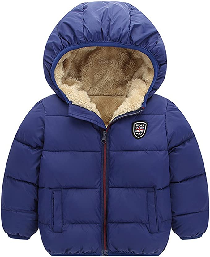 Baywell Winter Warm Coat, Little Girls Boys Outwear Hoodie Jacket