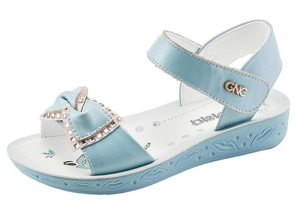 Toddler//Little Kid//Big Kid iDuoDuo Girls Rhinestones Bowknot Outdoor Open Toe Princess Leather Sandals