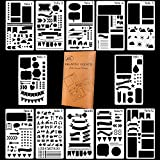 Bullet Journal Stencil DIY Diary Drawing Template 12 Pieces